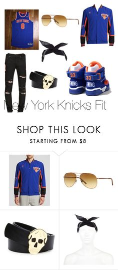 """New York Knicks Fit"" by femalekingin ❤ liked on Polyvore featuring adidas, Mitchell & Ness, Giorgio Armani, Alexander McQueen, River Island, Yves Saint Laurent, men's fashion and menswear"
