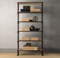 industrial shelf from restoration hardware (expensive) DIY?