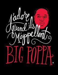 click to zoom  French Poppa  by Chris Piascik http://society6.com/product/French-Poppa_Print?tag=typography #type #typography #ChrisPiascik