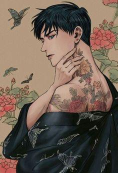 ° lillmushroom ° kings en 2019 anime art, boy art et manga a Handsome Anime Guys, Cute Anime Guys, Character Inspiration, Character Art, Character Illustration, Illustration Art, Anime Kunst, Full Body Tattoo, Body Tattoos