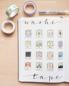 My washi collection grew so much this summer thanks to AliExpress and Daiso! I'm currently getting ready to go on a lil date with my… Washi Tape Notebook, Bullet Journal Washi Tape, Bullet Journal June, Washi Tape Planner, Bullet Journal Notebook, Bullet Journal Layout, Bujo Inspiration, Bullet Journal Inspiration, Making Tape
