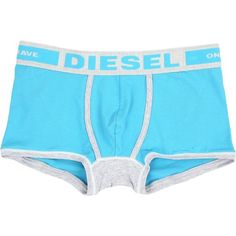 Diesel Hero Boxer Shorts TAIM (Baby/Blue) Men's Underwear ($26) ❤ liked on Polyvore featuring men's fashion, men's clothing, men's underwear, mens underwear trunks, mens boxers, mens swim trunks, mens underwear boxers and mens boxer trunks