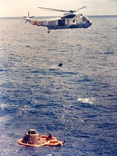 The Sikorsky SH-3D helicopter assisted in numerous Apollo missions.