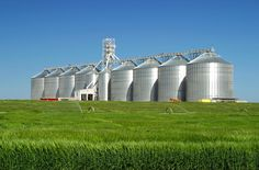 Love this shot of grain bins.