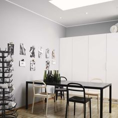 Grey, monochrome apartment - via Coco Lapine