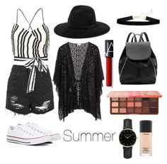 """Summer style#summer#personalfave"" by andreavall on Polyvore featuring Topshop, Alice + Olivia, Converse, rag & bone, Witchery, Too Faced Cosmetics, MAC Cosmetics and ROSEFIELD"