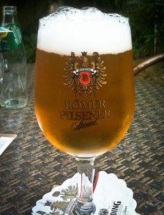 Binding Römer Pilsner beer in Frankfurt.  What I used to drink in Germany