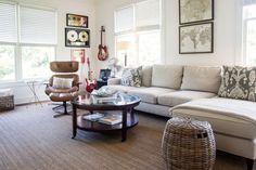 broadloom carpet Living Room Farmhouse with area rug artwork cream