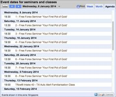 Forex seminar dates for January - February 2014 #singapore #forextrading #course