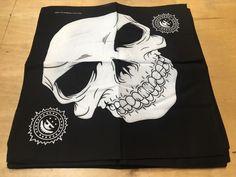"""Grinning Skulls Bandanas (12 Pk) 22"""" X 22"""" 100% COTTON"""