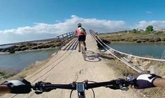 Two people on bikes on the week-long Algarve on two wheels tour, available spring and autumn.