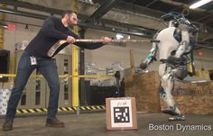 Our Reactions to the Treatment of Robots  Most of us have seen employees of Boston Dynamics kicking theirrobots and many of us instinctively react with horror. Morerecently Ive watched my own robots being petted applauded for theirachievements and yes even kicked.  Why do people react the way they do when mechanical creations are treated as if they were people pets or worse? There are some very interesting things to learn about ourselves when considering the treatment of robots as subhuman…