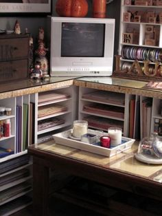 o drawer space? Use paper tray cubbies to keep your craft paper front and center.