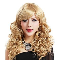 Fancy Ball Capless Synthetic Party Wig Capless Short Blonde Curly Princess Cospaly Wig