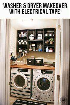 Washer & Dryer Facelift- Laundry Room Makeover