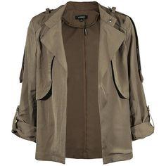 haoduoyi Womens Classic Short Padded Bomber Jacket Coat Jacket ($11) ❤ liked on Polyvore featuring outerwear, jackets, padded bomber jacket, flight jacket, bomber jackets, bomber style jacket and brown jacket