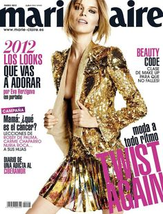 Eva's New Looks – Eva Herzigova tries on looks from the spring collections for the January cover shoot of Marie Claire Spain, lensed by David Roemer (Atelier… V Magazine, Fashion Magazine Cover, Magazine Covers, Marie Claire, Cosmopolitan, Vanity Fair, Damaris Goddrie, Stella Lucia, Kirsty Hume