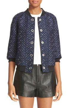 fbd2f094873 3.1 Phillip Lim Chevron Cloqué Bomber available at  Nordstrom Blousons  Blomber