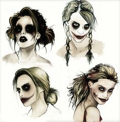 Harley Quinn designs by *grinandbareit on deviantART