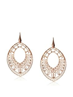 Argento Vivo Chocolate Laser Cut Marquee Earrings
