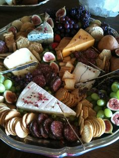 For all events a fruit/cheese platter is always elegant!