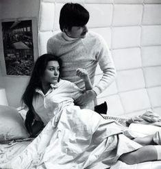 "Natalya Bondarchuk and Andrei Tarkovsky on the set of ""Solaris"" (1972)"
