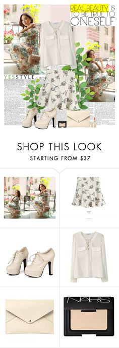 """""""YesStyle2"""" by polybaby ❤ liked on Polyvore featuring Styleonme, Goroke, Sidewalk, MANGO, Louis Vuitton, NARS Cosmetics, Spring and yesstyle"""