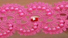Tığ İle Kırmızı İncili Şerit Kordon Yapımı Videolu Anlatım