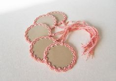 Embellished Gift Tags. Hanging Gift labels. Gift by goolgool