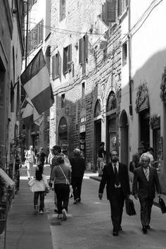 People walking in the streets of Florence, Italy