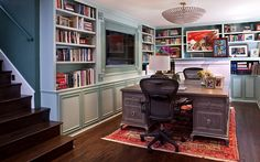 Need a quiet place away from interruptions? Turning your basement into a home office is a great solution.