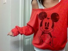 I have, like, NO oversized/cute sweaters and I love Disney stuff, so . . . Have at it!