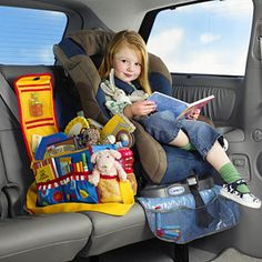Brica Car Seat Protector with Toy Organizer | Cars, Stains and Toys
