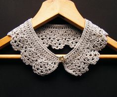 Silver Grey Lace Crochet Collar Necklace by Corcra on Etsy, €16.00