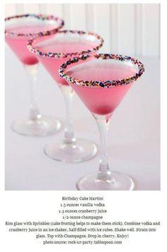 Birthday cake martinis