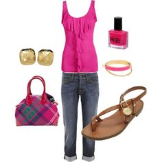 bright pink - so cute for spring and summer!