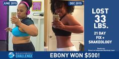 Ebony Lost 33 Pounds with 21 Day Fix and Shakeology -Looking for some more info about the 21 Day Fix? http://rozinkafitness.com/workout/21-day-fix/