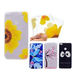 For Huawei P8 Lite 2017 Case TPU Soft Cute Cartoon Cat Animal Flower Phone Cases Funda p8 Lite 2017 Silicone Back Cover   A74