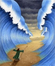 The Red Sea Craft - Moses parted the Red Sea for the Israelites to escape Pharaoh's armies. Description from pinterest.com. I searched for this on bing.com/images
