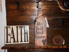 Frosted Wine Bottle Light From the by AfterAGlassCreations on Etsy