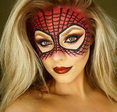 Idées de maquillage halloween femme à copier - super-héros