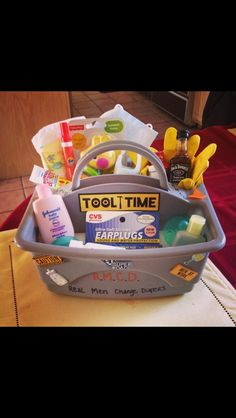 Daddy diaper changing tool box lol