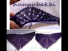 knit shawl pattern,knit shawl ,örgü şal başlama
