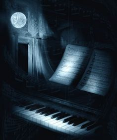 the most heavenly written piece of piano music.¥ (Art by Paul Verlaine) Paul Verlaine, Amadeus Mozart, Moonlight Sonata, Good Night Moon, Night Time, Beautiful Moon, Piano Music, Piano Keys, Art Music