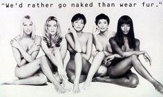 Emma Sjoberg, Tatjana Patitz, Heather Stewart Whyte, Fabienne Terwinghe and Naomi Campbell,1994