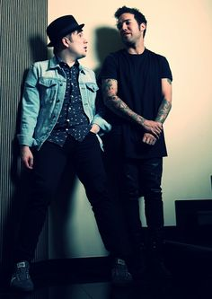 Patrick Stump and Pete Wentz from Fall Out Boy