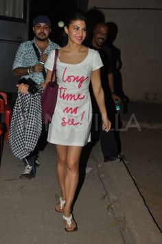 Jacqueline Fernandez In Moschino Cheap & Chic