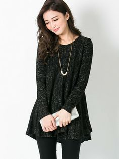 Shimmer A-line Knit Top $29.99
