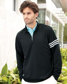 Adidas Mens ClimaLite Three-Stripe French Terry Pullover A190 (FREE SHIPPING)