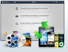 iMate-Convert, Manage & Copy Video, Music & More on iPad, iPhone & iPod  Convert video from any format to play on iPad/iPhone/iPod  Transfer video & other content not purchased on iTunes to your device Transfer content from your device back to your PC Directly & manage eBooks on iOS devices Manage photo libraries on iOS devices & create ringtones from any song.The current version is incompatible with iOS 5.Supported OS: Windows 7/XP/Vista Mac OS X 10.5 or 10.6 Buy today at a special low…